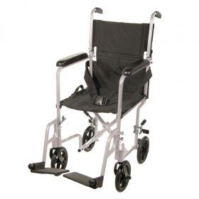 """Aluminum Transport Chair 19"""""""