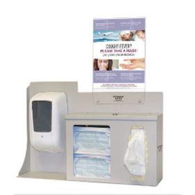 Hygiene Dispensing Station BOWMAN Surface Mount Quartz Beige 5.00 X 22.25 X 24.42 Inch Aluminum / PETG Plastic