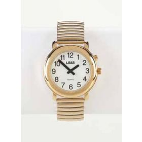 Talking Watch White Face Gold Exp. Band