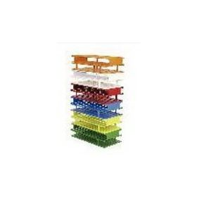 3-Tiered Test Tube Rack Nalgene Unwire 72 Place 16 mm Tube Size Blue 2-3/4 X 5 X 9-3/4 Inch