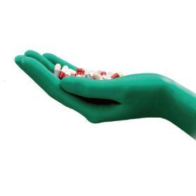 Cleanroom Glove TouchNTuff DermaShield Size 6.5 Neoprene Green 12 Inch Straight Cuff Sterile Pair