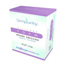 Silver Foam Dressing Simpurity 2 X 2 Inch Square Sterile