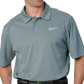 Polo Shirt 2X-Large Pewter Short Sleeves Male