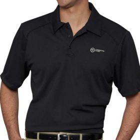 Polo Shirt Medium Black Short Sleeves Male