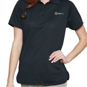 Polo Shirt Medium Black Short Sleeves Female