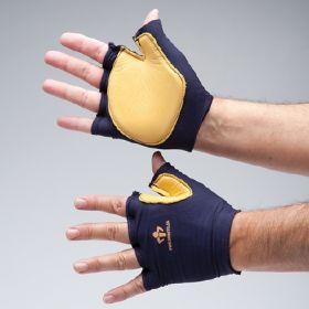 Impact Glove IMPACTO Tool Grip Fingerless Large Black / Tan Right Hand