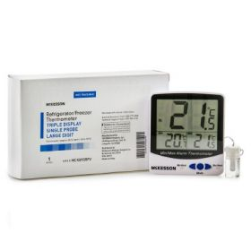 Refrigerator/Freezer Thermometer McKesson Fahrenheit/Celsius EA/1