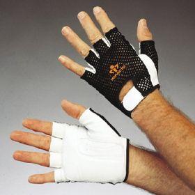 Impact Glove IMPACTO Half Finger Medium Black / White Hand Specific Pair