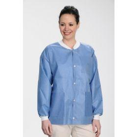 Lab Jacket ValuMax Extra-Safe True Blue 3X-Large Hip Length Limited Reuse