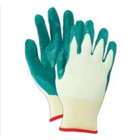 Utility Glove Showa Nitri-Flex Lite Size 9 Nitrile / Nylon Green 9 Inch Knit Cuff NonSterile
