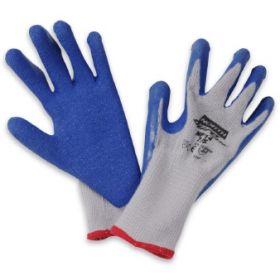 Work Glove NorthFlex Duro Task NF14 Size 9 Cotton / Polyester / Rubber Gray / Blue Wrist Length Knit Cuff