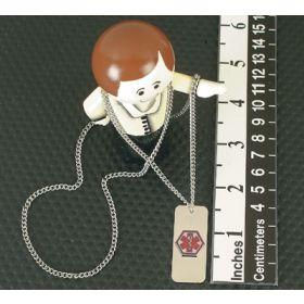 Emergency I.D. Necklace, Blank Medical