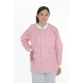 Warm-Up Jacket ValuMax Extra-Safe Pink Large Hip Length Limited Reuse