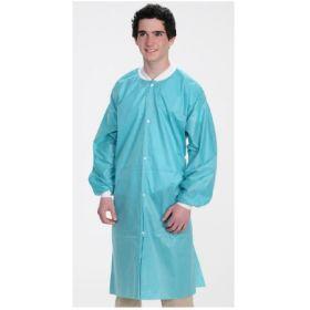 Lab Coat ValuMax Easy-Breathe Teal Large Knee Length Limited Reuse