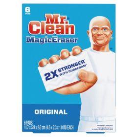Cleaning Pad Mr. Clean Magic Eraser Original White NonSterile Melamine Foam 1 X 2-3/10 X 4-3/5 Inch Reusable