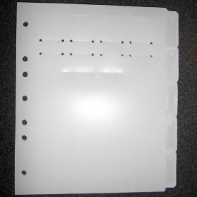 Chart Divider Set - Poly - Blank - Med/TX Record - 5 Pocket Tabs Side