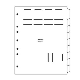 Chart Divider Set - Poly - Blank - Med/TX Record - 9 Tabs Side