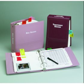 """Treatment Record Imprinted Ringbinder - 2"""" Top Open 3-Ring, Burgundy"""