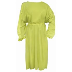 Protective Procedure Gown Adult One Size Fits Most Yellow NonSterile CS/50