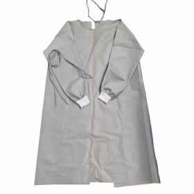 Protective Procedure Gown Adult One Size Fits Most White/Gray NonSterile CS/100