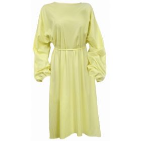 Protective Procedure Gown Adult One Size Fits Most Yellow NonSterile 1165824 CS/50