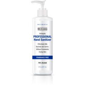 Hand Sanitizer McCord 8 oz. Ethyl Alcohol Gel Pump Bottle
