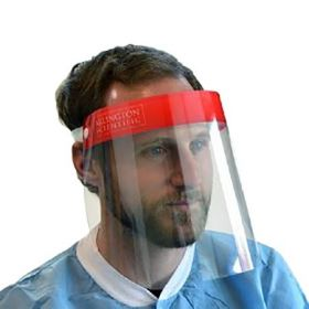 Wraparound Face Shield One Size Fits Most Full Length Anti-fog Disposable NonSterile  1167626 CS
