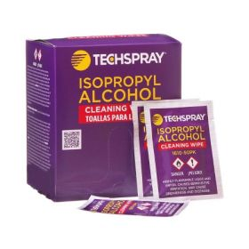 Techspray Surface Disinfectant Cleaner Premoistened Wipe 50 Count Individual Packet Disposable Alcohol Scent NonSterile