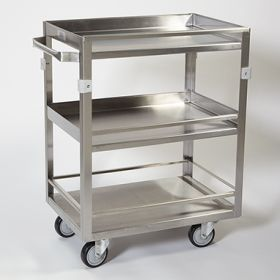 Stainless Steel Cart w Guard Rail
