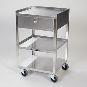 Stainless Steel Utility Cart with Drawer