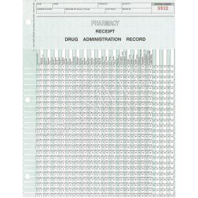 Pharmacy Drug Administration Record Receipt Form