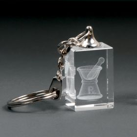 Crystal Key Chain with Mortar and Pestle