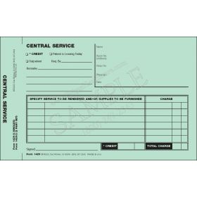 Central Service Requisition Form