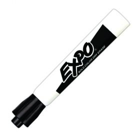 Expo Chisel Tip Dry-Erase Markers, Black, 12/Pack
