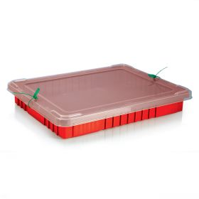 Snap-On Lid w/ Security Seal Holes for Divider Boxes