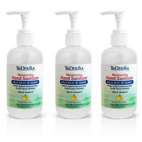 TriDerma Moisturizing Hand Sanitizer-62% Ethyl Alcohol-8oz Pump-3/Pack