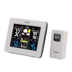 Taylor 1736 Deluxe Digital Color Weather Forecaster w/ Barometer
