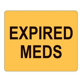 Expired Meds Labels