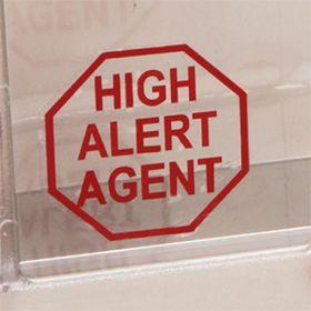 High Alert Agent Vinyl Labels