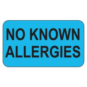 No Known Allergies Labels