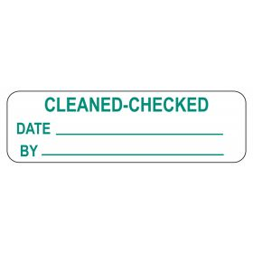 Cleaned-Checked Labels
