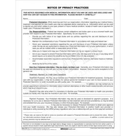 Notice of Privacy/Acknowledge of Receipt 2-Pt Form