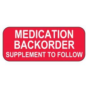 Medication Backorder Labels