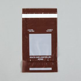 Self-Sealing Tamper-Indicating Bags, Amber, 3-3/4 x 6-1/4