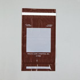 Self-Sealing Tamper-Indicating Bags, Amber, 6-1/2 x 10