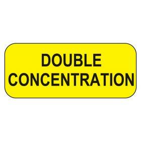 Double Concentration Labels