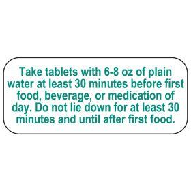 Take Tablets Labels