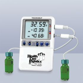 Hi-Accuracy Refrigerator Thermometer w/ 2 probe bottles
