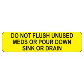 Do Not Flush Labels
