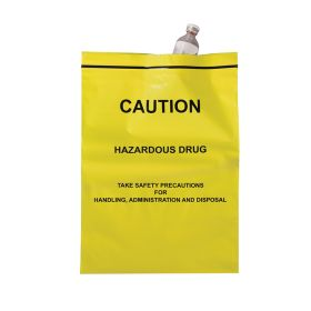 Caution Hazardous Drug Bags, 9 x 12